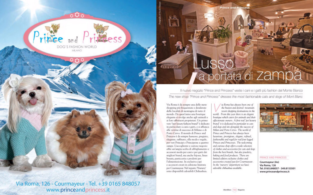 Prince and Princess Courmayeur sul magazine IMontBlanc!